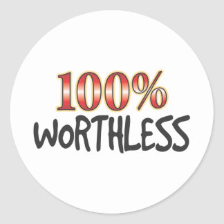 Worthless 100 Percent Stickers