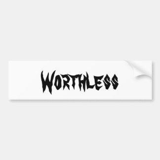 Worthless Sticker