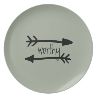 Worthy Party Plate