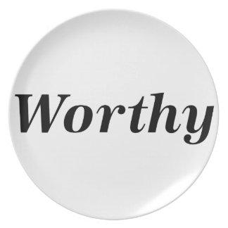 worthy plate