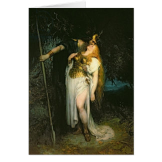 Wotan Kissing Brunhilde Card