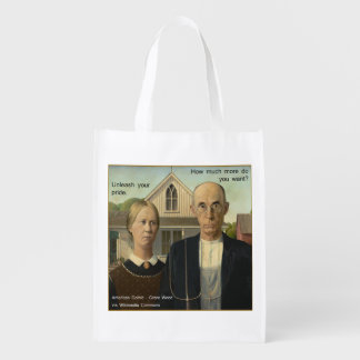 Would Grant Wood Reusable Grocery Bag