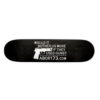 Would it Bother Us More if They Used Guns? Abort73 Skateboard Deck