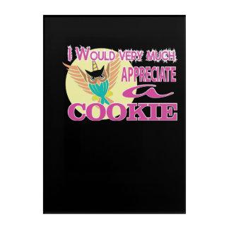 Would Much Appreciate Owl Unicorn Cookie Acrylic Print