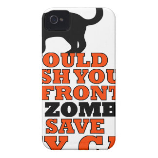 would push you front zombie save my cat funny iPhone 4 cover