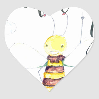 Would You Bee Mine Heart Sticker