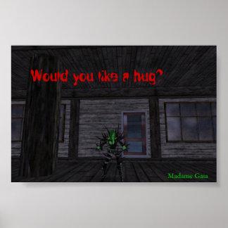Would you like a hug? poster