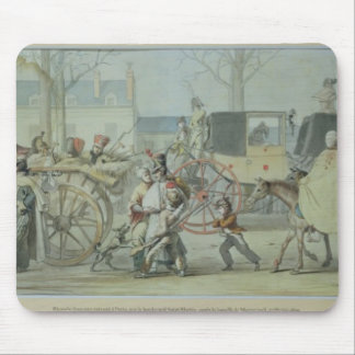 Wounded French Soldiers Entering Paris Mouse Pad