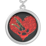 Wounded Heart Gothic Werewolf Necklace