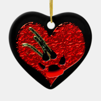 Wounded Heart Werewolf Goth Ornament