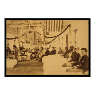 Wounded Soliders in Armory Square Hospital DC 1864 Poster