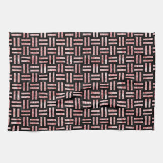 WOV1 BK-RW MARBLE TOWEL