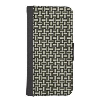 WOVEN1 BLACK MARBLE & BEIGE LINEN iPhone SE/5/5s WALLET CASE