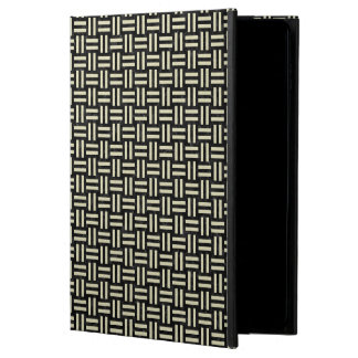 WOVEN1 BLACK MARBLE & BEIGE LINEN POWIS iPad AIR 2 CASE