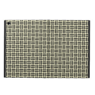 WOVEN1 BLACK MARBLE & BEIGE LINEN (R) CASE FOR iPad AIR