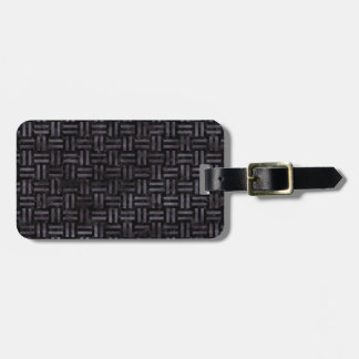 WOVEN1 BLACK MARBLE & BLACK WATERCOLOR LUGGAGE TAG
