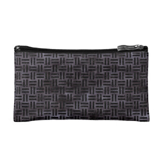 WOVEN1 BLACK MARBLE & BLACK WATERCOLOR (R) COSMETIC BAG