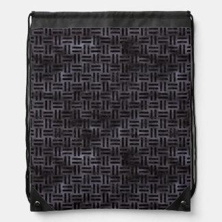 WOVEN1 BLACK MARBLE & BLACK WATERCOLOR (R) DRAWSTRING BAG