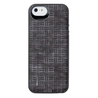 WOVEN1 BLACK MARBLE & BLACK WATERCOLOR (R) iPhone SE/5/5s BATTERY CASE