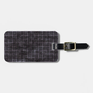 WOVEN1 BLACK MARBLE & BLACK WATERCOLOR (R) LUGGAGE TAG