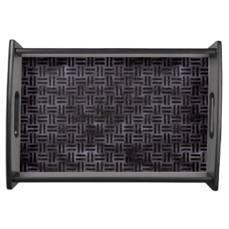 WOVEN1 BLACK MARBLE & BLACK WATERCOLOR (R) SERVING TRAY