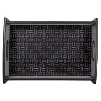 WOVEN1 BLACK MARBLE & BLACK WATERCOLOR SERVING TRAY