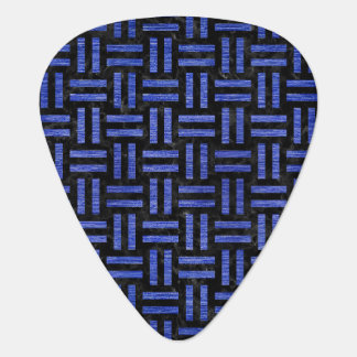 WOVEN1 BLACK MARBLE & BLUE BRUSHED METAL GUITAR PICK