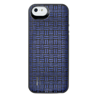 WOVEN1 BLACK MARBLE & BLUE BRUSHED METAL iPhone SE/5/5s BATTERY CASE