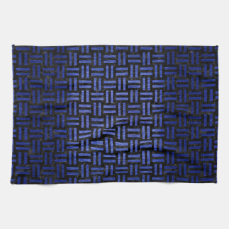 WOVEN1 BLACK MARBLE & BLUE BRUSHED METAL KITCHEN TOWEL