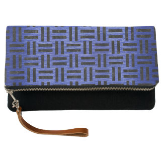 WOVEN1 BLACK MARBLE & BLUE BRUSHED METAL (R) CLUTCH