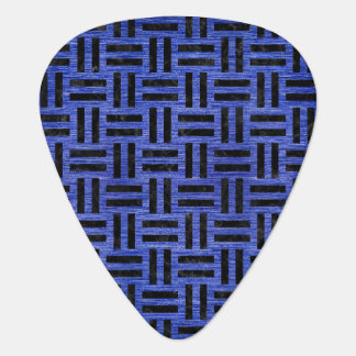 WOVEN1 BLACK MARBLE & BLUE BRUSHED METAL (R) GUITAR PICK