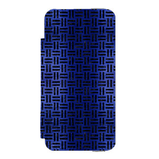 WOVEN1 BLACK MARBLE & BLUE BRUSHED METAL (R) INCIPIO WATSON™ iPhone 5 WALLET CASE