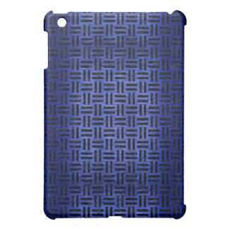 WOVEN1 BLACK MARBLE & BLUE BRUSHED METAL (R) iPad MINI CASE