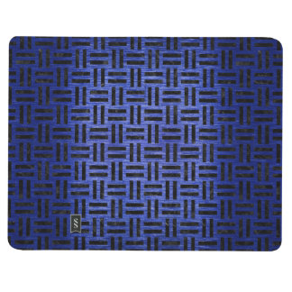 WOVEN1 BLACK MARBLE & BLUE BRUSHED METAL (R) JOURNAL