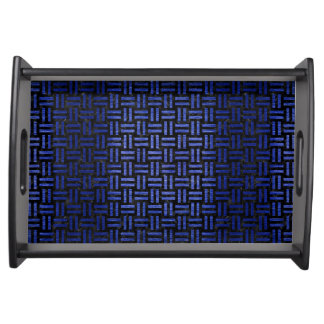 WOVEN1 BLACK MARBLE & BLUE BRUSHED METAL SERVING TRAY