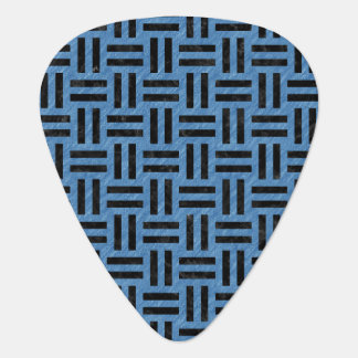 WOVEN1 BLACK MARBLE & BLUE COLORED PENCIL (R) GUITAR PICK