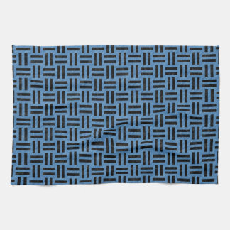 WOVEN1 BLACK MARBLE & BLUE COLORED PENCIL (R) KITCHEN TOWEL