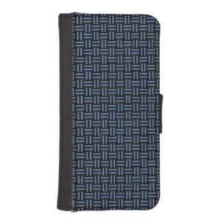 WOVEN1 BLACK MARBLE & BLUE DENIM iPhone SE/5/5s WALLET CASE