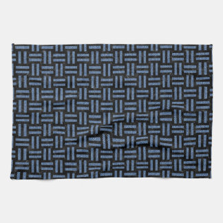 WOVEN1 BLACK MARBLE & BLUE DENIM KITCHEN TOWEL