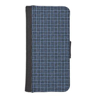 WOVEN1 BLACK MARBLE & BLUE DENIM (R) iPhone SE/5/5s WALLET CASE