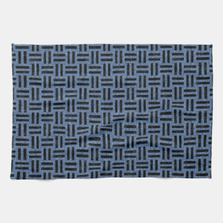 WOVEN1 BLACK MARBLE & BLUE DENIM (R) KITCHEN TOWEL