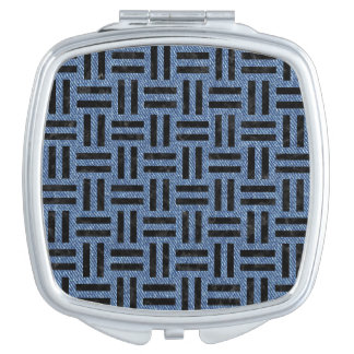 WOVEN1 BLACK MARBLE & BLUE DENIM (R) MIRRORS FOR MAKEUP