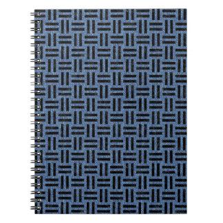 WOVEN1 BLACK MARBLE & BLUE DENIM (R) SPIRAL NOTEBOOK