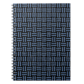 WOVEN1 BLACK MARBLE & BLUE DENIM SPIRAL NOTEBOOK