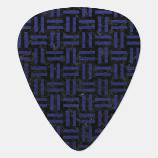 WOVEN1 BLACK MARBLE & BLUE LEATHER GUITAR PICK