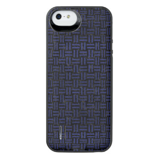 WOVEN1 BLACK MARBLE & BLUE LEATHER iPhone SE/5/5s BATTERY CASE