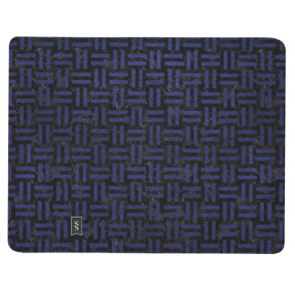 WOVEN1 BLACK MARBLE & BLUE LEATHER JOURNAL