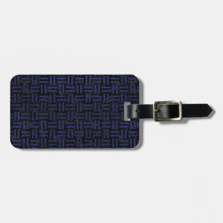 WOVEN1 BLACK MARBLE & BLUE LEATHER LUGGAGE TAG