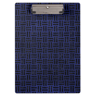 WOVEN1 BLACK MARBLE & BLUE LEATHER (R) CLIPBOARD
