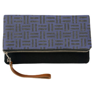 WOVEN1 BLACK MARBLE & BLUE LEATHER (R) CLUTCH